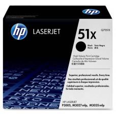 Cartucho original de tóner negro de alto rendimiento HP 51X LaserJet(Q7551X)