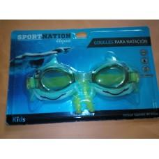 Goggles Infantiles y Tapones de Oidos para Natacion