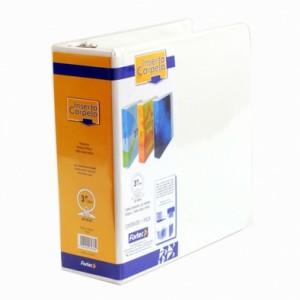 Paquete de 3 Carpetas de Vinyl Color Blanco Carta