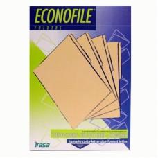 5 Paquetes de 100 Folders Econofile Color Beige