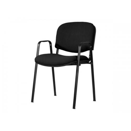 Silla acolchada color negro para oficina for Silla para visitas oficina